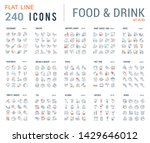 big collection of linear icons. ... | Shutterstock . vector #1429646012