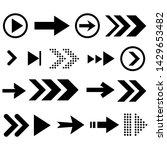 arrow icon set  great design... | Shutterstock .eps vector #1429653482
