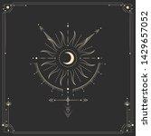 vector illustration set of moon ...   Shutterstock .eps vector #1429657052