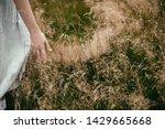 stylish girl in linen dress... | Shutterstock . vector #1429665668