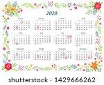 2020 Year Calendar In English...