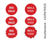 set sale banner isolated on... | Shutterstock .eps vector #1429670525