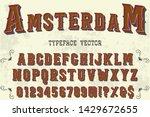 abc font alphabet script... | Shutterstock .eps vector #1429672655