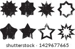 grunge stars stamps collection. ... | Shutterstock .eps vector #1429677665