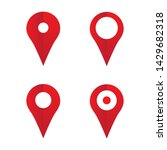map places location pin icons...