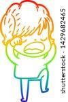 rainbow gradient line drawing... | Shutterstock .eps vector #1429682465