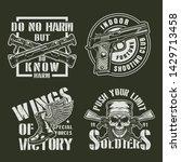 vintage military badges set... | Shutterstock .eps vector #1429713458