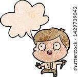 cartoon frightened man hunting... | Shutterstock .eps vector #1429739042