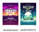 retro wave music party  dj... | Shutterstock .eps vector #1429749575