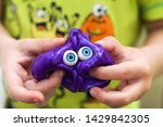 Slime With Eyes In Kids Hands....
