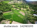 Aerial View Of A Green Rural...