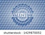 valentine blue hexagon emblem.... | Shutterstock .eps vector #1429870052