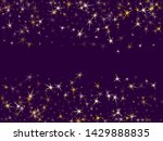 gold stars confetti on violet.... | Shutterstock .eps vector #1429888835