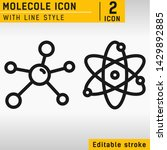molecule vector icon isolated... | Shutterstock .eps vector #1429892885