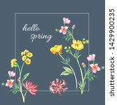 floral background for fashion... | Shutterstock . vector #1429900235