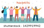 group youth people hugging... | Shutterstock .eps vector #1429919942