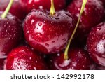 close up of fresh cherry... | Shutterstock . vector #142992178