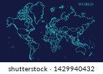 world map background vector... | Shutterstock .eps vector #1429940432