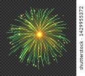 festive fireworks with bright... | Shutterstock .eps vector #1429955372