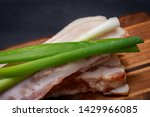 uncured apple smoked bacon...   Shutterstock . vector #1429966085