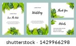 wedding invitation set with... | Shutterstock .eps vector #1429966298