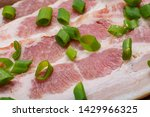 uncured apple smoked bacon...   Shutterstock . vector #1429966325