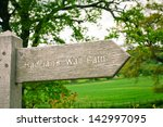 Wooden Sign For Part Of The...