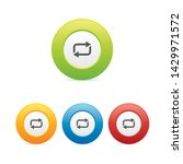 colorful set of loop round icons
