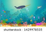 fish swimming under the sea   Shutterstock .eps vector #1429978535
