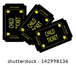 three black child tickets | Shutterstock . vector #142998136