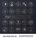 social networks icons set for... | Shutterstock .eps vector #1429990235