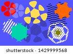 abstract memphis floral pop art ... | Shutterstock .eps vector #1429999568