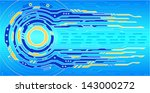 hi tech background | Shutterstock .eps vector #143000272
