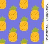pineapple seamless pattern.... | Shutterstock .eps vector #1430005592