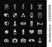 health and medicine icon set | Shutterstock .eps vector #143003308