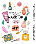 skincare routine set with... | Shutterstock .eps vector #1430040152