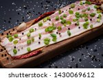 uncured apple smoked bacon...   Shutterstock . vector #1430069612