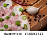 uncured apple smoked bacon...   Shutterstock . vector #1430069615