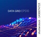 data mesh connection. 3d... | Shutterstock .eps vector #1430074715