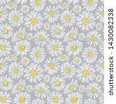 daisy meadow seamless pattern...   Shutterstock . vector #1430082338