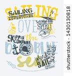 kid skipper company sailing... | Shutterstock .eps vector #1430130818