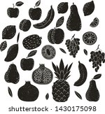 set of stamped fruits. hand...   Shutterstock .eps vector #1430175098
