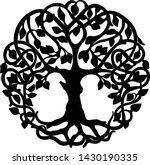 decorative celtic tree of life... | Shutterstock .eps vector #1430190335