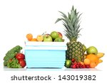 fresh fruits and vegetables in... | Shutterstock . vector #143019382