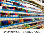 colorful beautiful pen shelves... | Shutterstock . vector #1430227238