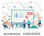 business teams communication in ... | Shutterstock .eps vector #1430232032