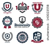set of university and college... | Shutterstock .eps vector #143023558