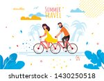 summer travel by bicycle for... | Shutterstock .eps vector #1430250518
