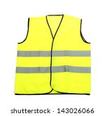 Yellow Vest  Isolated On Black