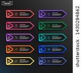vector infographic design list...